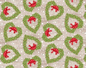 Snow Place Like Home Tossed Wreath - 1/4 yard