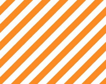 Hometown Halloween Witchy Stripe - Orange - 1/4 yard