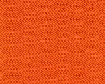Jungle Paradise Geometric Diamond Dot - Orange - 1/4 yard