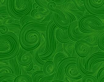 Just Color! Swirl 1351-Green -1/4 yard