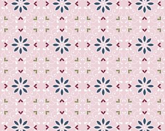 Whimsical Romance - Scroll Pink - 1/4 yard