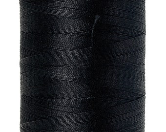 Silk-Finish 50wt Solid Cotton Thread Black