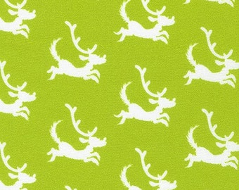 How the Grinch Stole Christmas - Lime Dogs - 1/4 yard