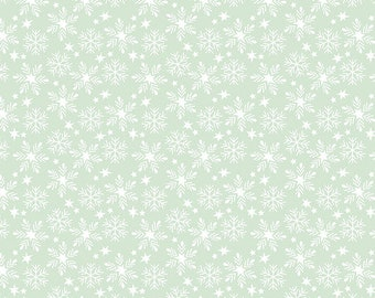 Fa La La Snowfall - Aqua - 1/4 yard