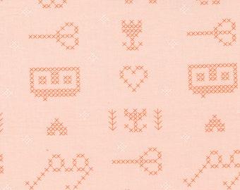 Make Time - Cross Stitch Sampler - Blush - 1/4 yard