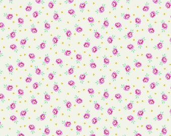 CLEARANCE!!! Curiouser & Curiouser Baby Buds - Sugar - 1/4 yard