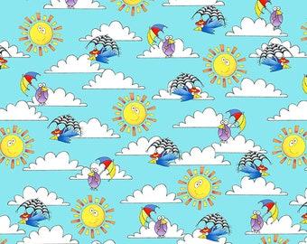 Noah's Story - Sky, Clouds, Sun - 1/4 yard