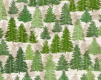 Pine Trees on Wood - 1/4 yard