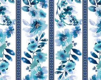 CLEARANCE!!! Midnight Sapphire - Wallpaper Stripe - 1/4 yard