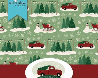 """Christmas Traditions by Riley Blake -  2 1/2"""" Rolie Polie"""