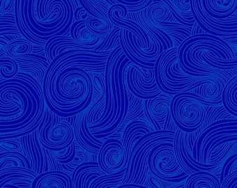 Just Color! Swirl - Royal - 1/4 yard