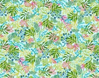CLEARANCE!!! Blooming Ocean Seaweed Multi - 1/4 yard