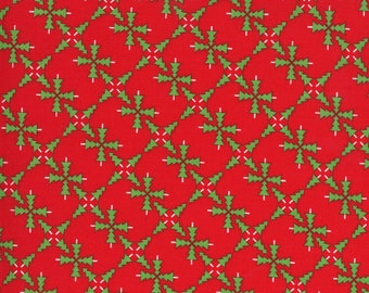 Merry Bright Sweater - Poinsettia Red - 1/4 yard