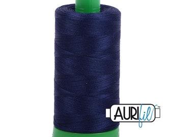 Aurifil Cotton Mako Thread 40wt Midnight