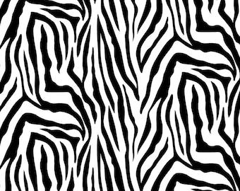 Skin Deep Zebra Skin - 1/4 yard