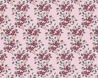 Whimsical Romance - Posies Pink  - 1/4 yard