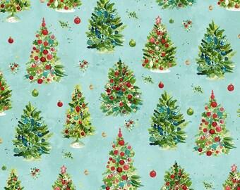 O Christmas Tree - Trees - Light Aqua - 1/4 yard