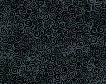 Basic Swirl Dark Grey  - 1/4 yard