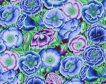 Poppy Garden - Blue - 1/4 yard