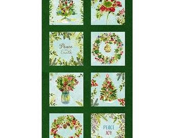 """O Christmas Tree - 9"""" Block Panel - Forest"""