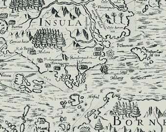 Boscage Borneo Imprint - 1/4 yard