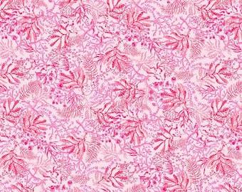 CLEARANCE!!! Blooming Ocean Seaweed Pink - 1/4 yard