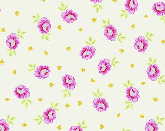 CLEARANCE!!! Curiouser & Curiouser Big Buds - Wonder - Wide Backing fabric - 1/4 yard