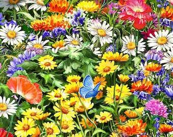 Sweet Summer Florals - 1/4 yard