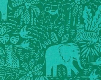 Jungle Paradise Jungle Scene - Monstera - 1/4 yard
