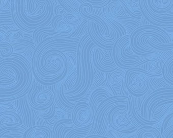 Just Color! Swirl - Chambray - 1/4 yard