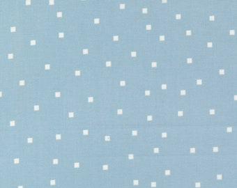 Make Time - Square Dots - Bluebell - 1/4 yard