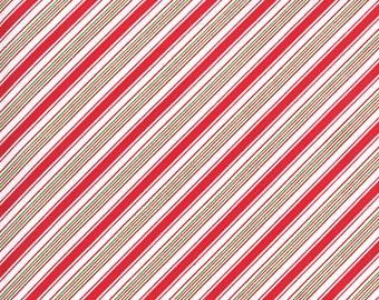 Merry Bright Stripe - Red Green - 1/4 yard