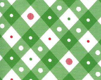 Merry Bright Check - Ever Green - 1/4 yard