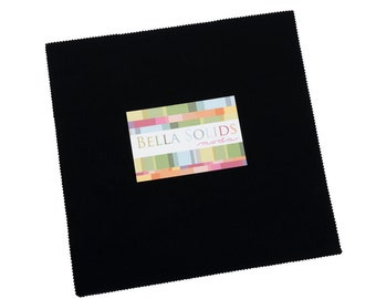 Bella Solids Layer Cake - Black