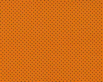 Holiday Essentials Halloween - Dots - Pumpkin (Orange) - 1/4 yard