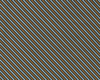 Holiday Essentials Halloween - Stripe - Midnight (Black) - 1/4 yard