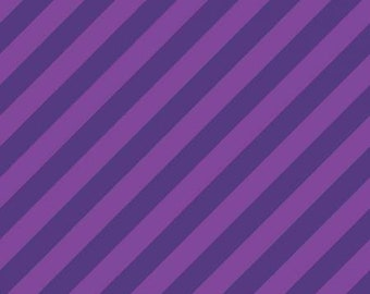 Hometown Halloween Witchy Stripe - Purple - 1/4 yard