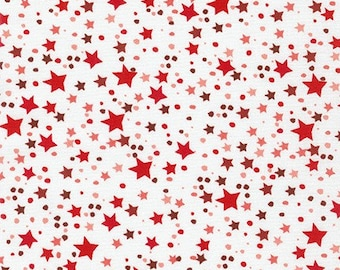 How the Grinch Stole Christmas - Red Stars - 1/4 yard