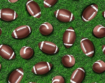 CLEARANCE!!! Love Of The Game - Footballs - 1/4 yard