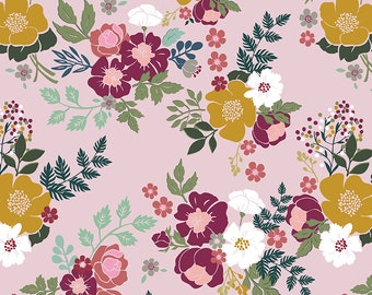 Whimsical Romance  - Main Pink - 1/4 yard
