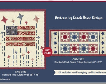 PREORDER!!! Rockets Red Glare Wallhanging and Tablerunner Quilt Kit