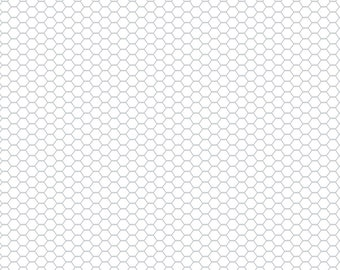 Down on the Farm Wire White - 1/4 yard