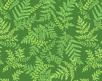Secret Stream - Ferns - Green - 1/4 yard