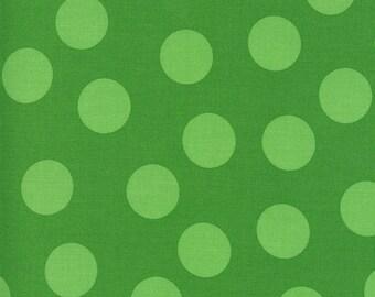 Merry Bright Large Dots - Tonal Ever Green - 1/4 yard