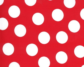 Merry Bright Large Dots - Poinsettia Red - 1/4 yard