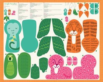 Jungle Paradise Stuffed Animal Panel