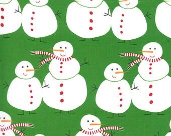 Merry Bright Snowmen - Ever Green - 1/4 yard