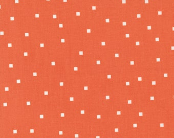 Make Time - Square Dots - Strawberry - 1/4 yard