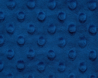 Minky Shannon Cuddle Dimple Solid Royal - 1/4 yard