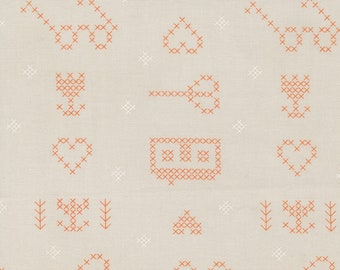 Make Time - Cross Stitch Sampler - Cloud - 1/4 yard